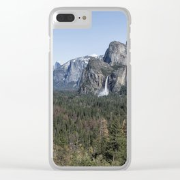 Tunnel View of Yosemite During Spring Clear iPhone Case