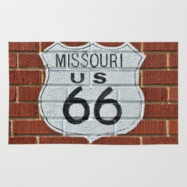 Historic Route 66 sign. Rug