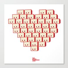 i heart robot Canvas Print