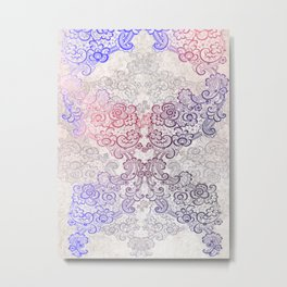 lace cascade light Metal Print