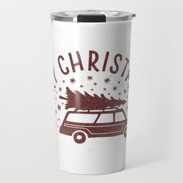 Merry Christmas Station Wagon Travel Mug