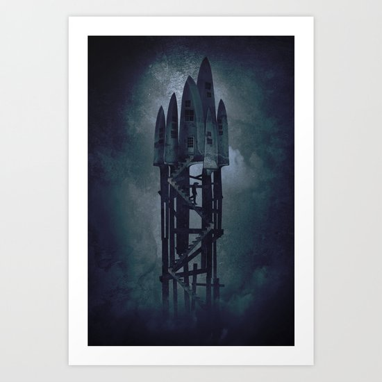 House of Knives 2 Art Print