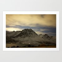 Norwegian mountains 1 Art Print