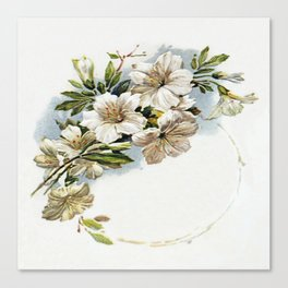 White Camellias Canvas Print