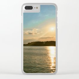 Smith Mountain Sunset. Clear iPhone Case