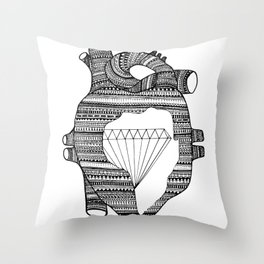DIAMOND HEART Throw Pillow