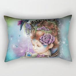 Tea&PeriWinkle Rectangular Pillow