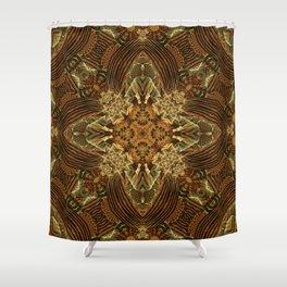 Heart of the Earth Mandala Shower Curtain