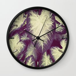 White Caladium Wall Clock