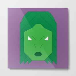 She Hulk Metal Print