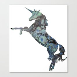 Unicorn Abstract Painting Canvas Print