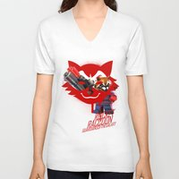 rocket raccoon V-neck T-shirts featuring Rocket Raccoon by Markusian