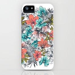 Hawaiian Beach Floral iPhone Case