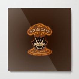 Atom Cats Metal Print