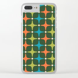 Mid Century Modern Star Pattern 934 Clear iPhone Case