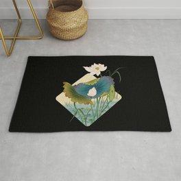 lotursflowers D : Minhwa-Korean traditional/folk art Rug