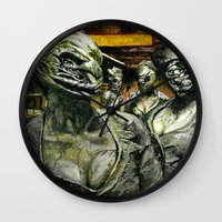 silent hill Wall Clocks featuring Silent Hill by Sprite Ideas