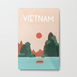 Vietnam travel poster Metal Print