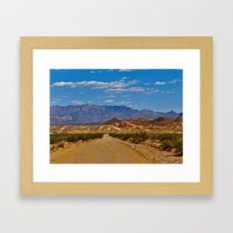 Big Bend Highway Framed Art Print