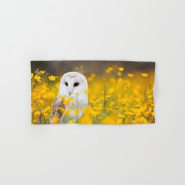 Little Owlet in Flowers (Color) Hand & Bath Towel