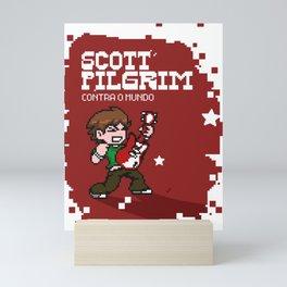 Scott Pilgrim pixel art Mini Art Print
