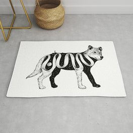Lost in Its Own Existence (Wolf) Rug
