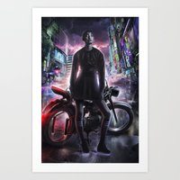 moto Art Prints featuring Moto by LOOSE GERMS