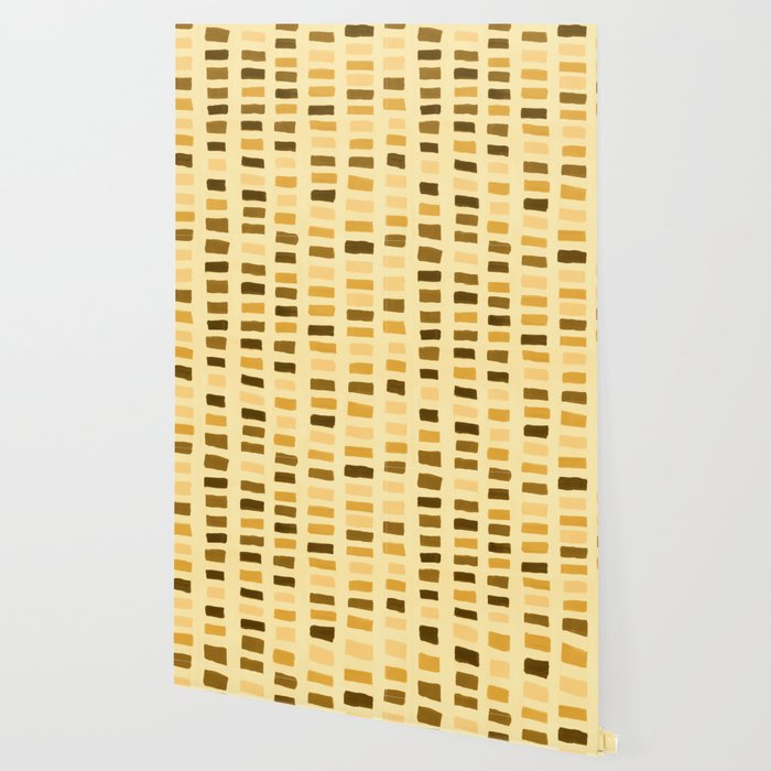 Painted Color Block Rectangles in Yellow Wallpaper