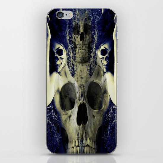 abstract skull girls iPhone & iPod Skin