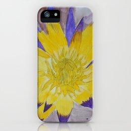 Yellow Lotus iPhone Case