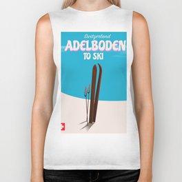 Adelboden Switzerland Ski poster Biker Tank