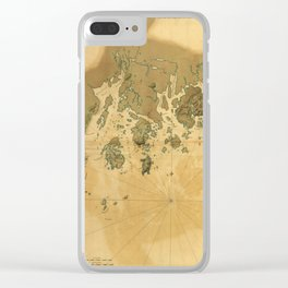 Coast of Maine from Frenchmans Bay to Mosquito Harbor (1776) Clear iPhone Case