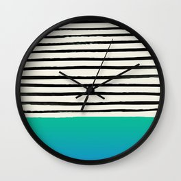 Mermaid & Stripes Wall Clock