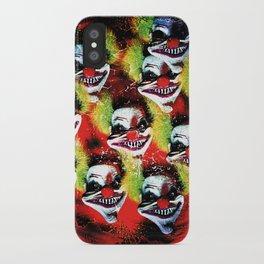 Halloween Horrorclown Collage iPhone Case