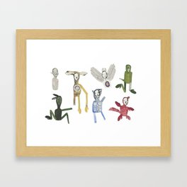 Incomplete Creatures Framed Art Print