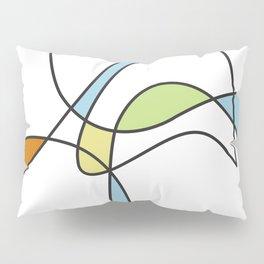 Mid Century Modern Abstract Design Pillow Sham