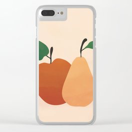 An Apple and a Pear Clear iPhone Case