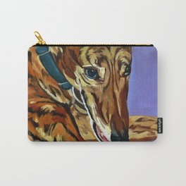 Emmitt the Whippet Dog Portrait Carry-All Pouch