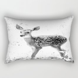 The Sweetest fawn Black & White Rectangular Pillow
