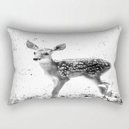 The Sweetest fawn Black & White Rectangular Pillow