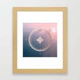The Edge of Tomorrow - Rosegold Compass Framed Art Print