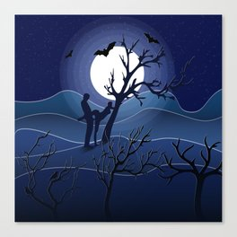 Night sex Canvas Print