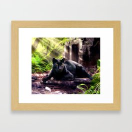 Protector of ancient tempels Framed Art Print