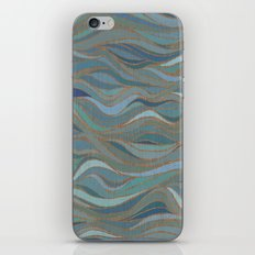 Wave lines 1 iPhone & iPod Skin