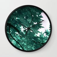 turquoise Wall Clocks featuring turquoise by Françoise Reina