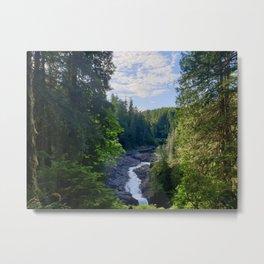 How a Waterfalls  Metal Print