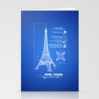 eiffel tower Stationery Cards featuring  Eiffel Tower by mewdew