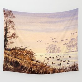 Duck Hunting Times Wall Tapestry