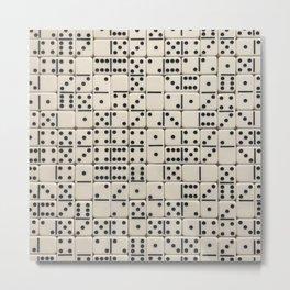 Dominoes Pattern Metal Print