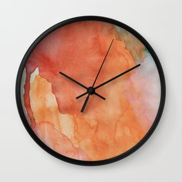 Wynonna (Abstract Gouache Painting) Wall Clock